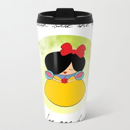 Snow white Metal Travel Mug