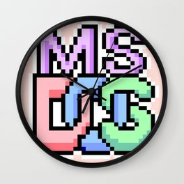 Pastel MS-DOS Wall Clock
