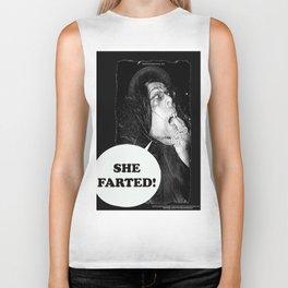 """Kount Kracula sez: """"She Farted!"""" Biker Tank"""