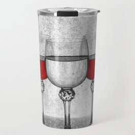 Still life with glass glasses with wine Travel Mug