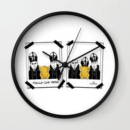 POLLO CON PAPAS Wall Clock