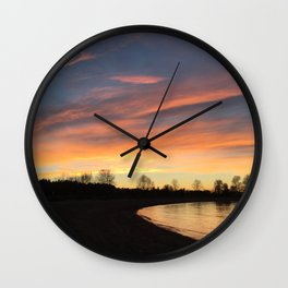 Sunset in Jerico Wall Clock