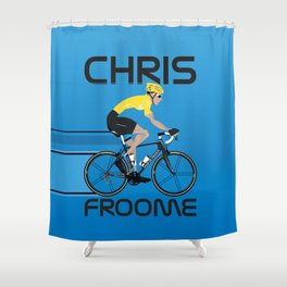 Chris Froome Yellow Jersey Shower Curtain