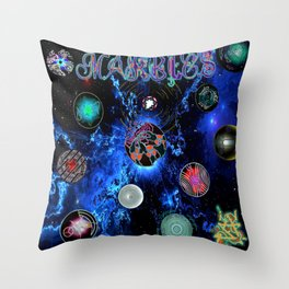 Marbles EP available July 27 (Get this on white) Throw Pillow