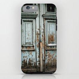 Turquoise Door iPhone Case