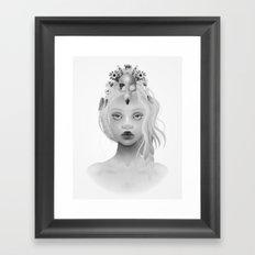The Birdmad Girl Framed Art Print
