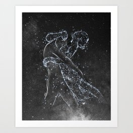 The love protection. Art Print