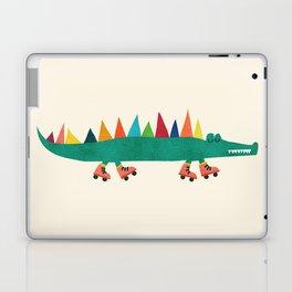 Crocodile on Roller Skates Laptop & iPad Skin
