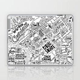 Cleveland Ohio Map Laptop & iPad Skin