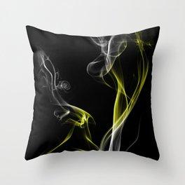 Smoke Yellow Throw Pillow