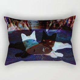 Black cat Tito Rectangular Pillow