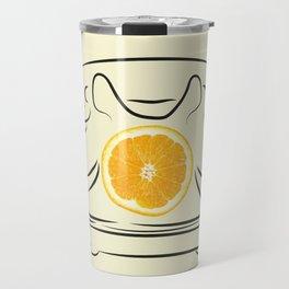 orange telephone Travel Mug