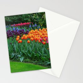 Colorful Tulips of Keukenhof After the Rain Stationery Cards