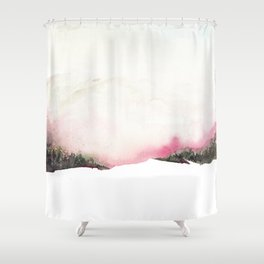 Fading mountains Shower Curtain