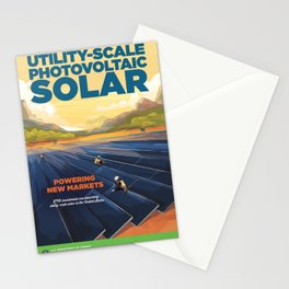 US Department of Energy LPO Poster - Utility-Scale Photovoltaic Solar (2016) Stationery Cards