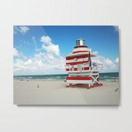 Baywatch House (Miami Beach, Florida) Metal Print