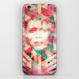 Bowie abstraction iPhone Skin