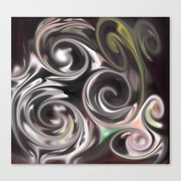 Smudged Colours 5 Canvas Print