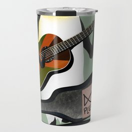 Penguin Busking Travel Mug