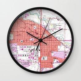 Vintage Map of Fort Collins Colorado (1960) Wall Clock