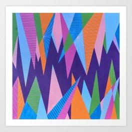 Crystal Stalagmites Art Print