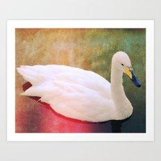 It looks like a swan! Art Print