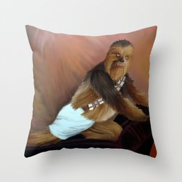 Chewbacca and the Timeless Art of Seduction Throw Pillow