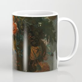 Jan van Huysum - Still Life with Flowers and Fruit Coffee Mug