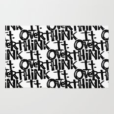 over think it. Rug