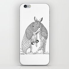 hipster 'dillo iPhone & iPod Skin