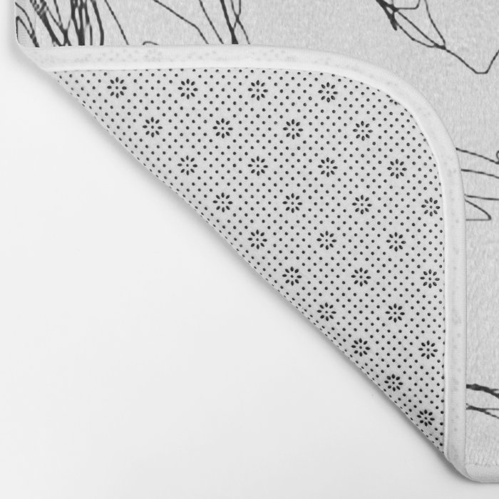 kiss more often (B & W) Bath Mat