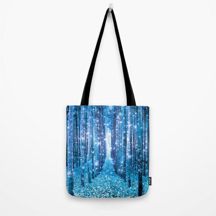 Magical Forest  Light Blue Turquoise Tote Bag