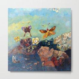Odilon Redon Butterflies Metal Print