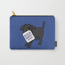 Cute Dog with Biden Harris Sign Carry-All Pouch