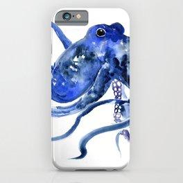 Octopus Design Blue Navy Blue Beach, cute ocotpus texture art iPhone Case