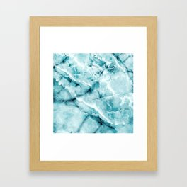 blue ice Framed Art Print