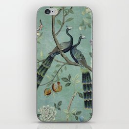 A Teal of Two Birds Chinoiserie iPhone Skin