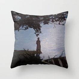 Sherlock Holmes ( Silent Thoughts at the Lake) Throw Pillow