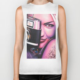 Photographer Girl Biker Tank
