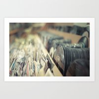 records Art Prints featuring Records by Jake Boeve