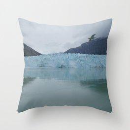 Glacier Bay National Park Margerie Glacier Alaska Throw Pillow