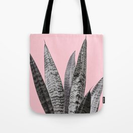 Gray snake plant in pink Tote Bag