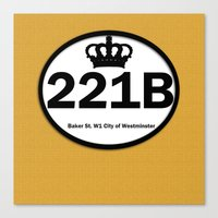 221b Canvas Prints featuring 221B by Lugonbe