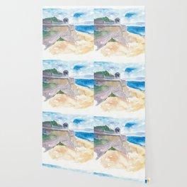 Ajaccio Corsica France - Beach and Fortress Wallpaper