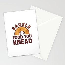 Bagels Food You Knead Stationery Cards