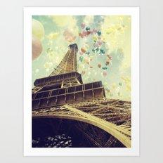 Paris is Flying Art Print