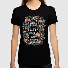 Little & Fierce on Kraft T-shirt