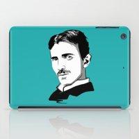 tesla iPad Cases featuring Nikola Tesla by Laura Meg