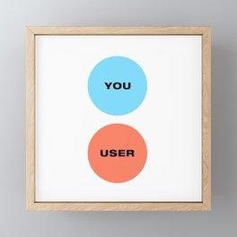 You Are Not The User - UX Design Venn Diagram Framed Mini Art Print