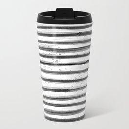 Zebra Swirl Stripe Metal Travel Mug